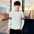 2016 New Winter Sweater Slim Mens shirt Men Hedging Color Stripe M-XXL Size Free Shipping