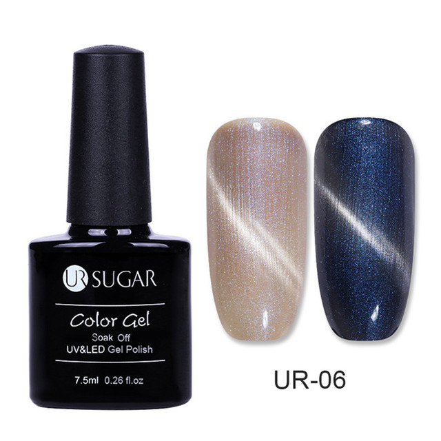 Aliexpress.com : Buy UR SUGAR 7.5ml UV Magnetic 3D Cat Eye Gel Polish Red Flame Pearl Glitter