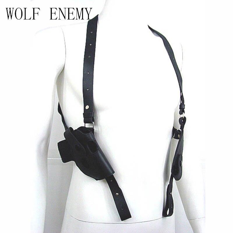 Tactique de la Force Armée En Cuir D'épaule Pistol Holster Pour 654 K Avec Magazine Pouch