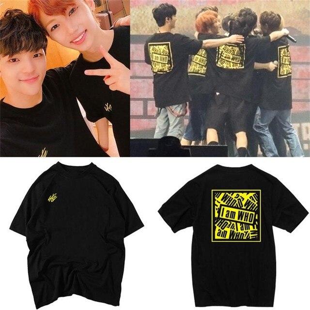 cbd594d7c Kpop Stray Kids Bang Chan Ho I am WHO Concert Tshirt Graphic Cotton T-Shirt