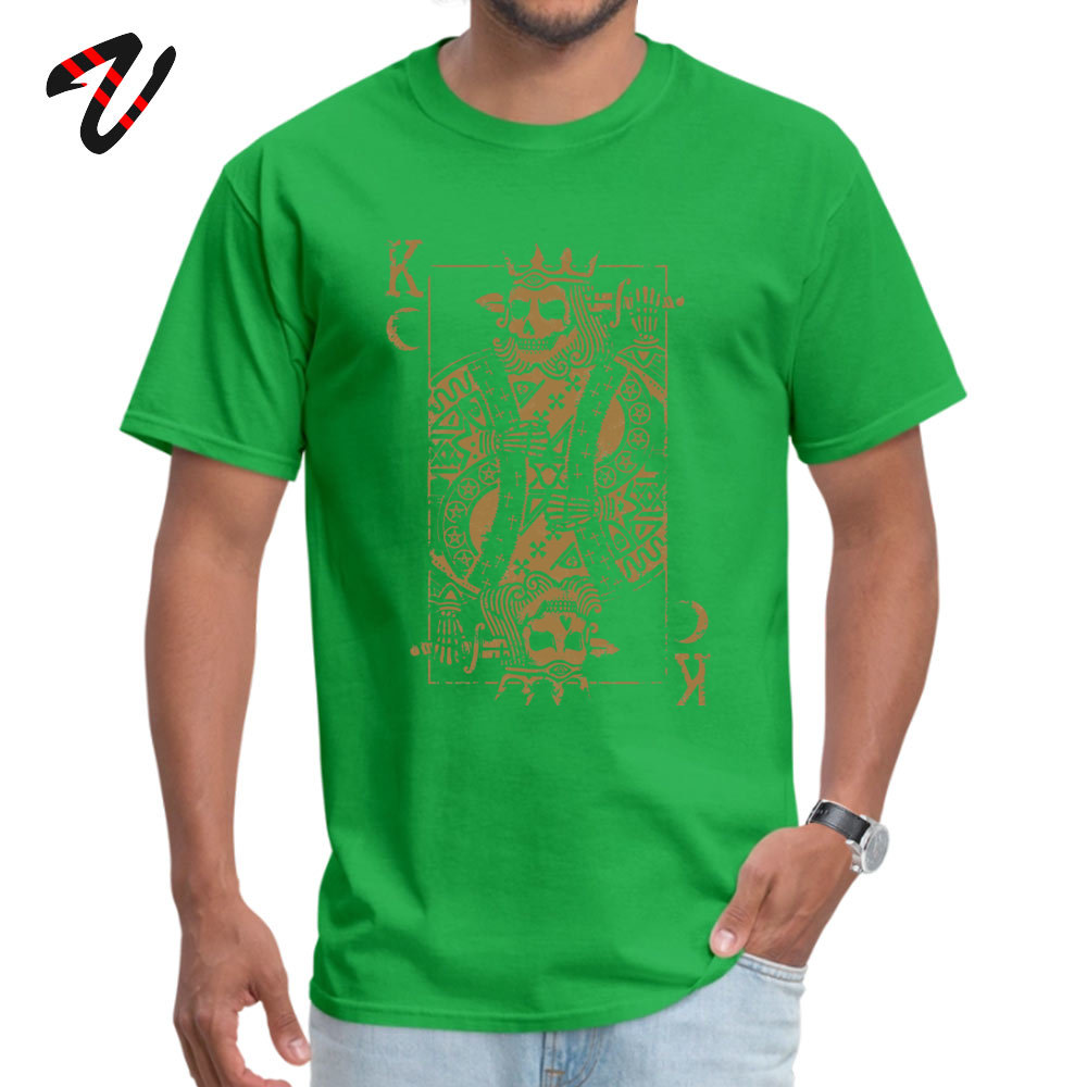 Suicide King Printed T Shirts for Boys 100% Cotton Summer Fall T Shirt Casual Tops Shirts Short Sleeve On Sale Round Neck Suicide King 30090 green