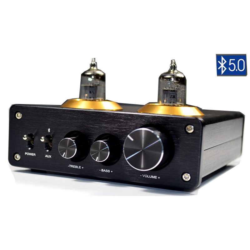 HiFi 6J1 <font><b>Tube</b></font> Amplifier <font><b>Preamplifier</b></font> <font><b>Bluetooth</b></font> 5.0 Preamp AMP With Treble Bass Tone Adjustment Home Sound Theater image