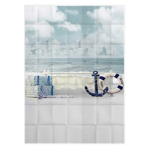 Image 3 - Tło fotograficzne Allenjoy Jinhae łódź morska niebo fale tła księżniczka dzieci winylu photocall 8x12ft