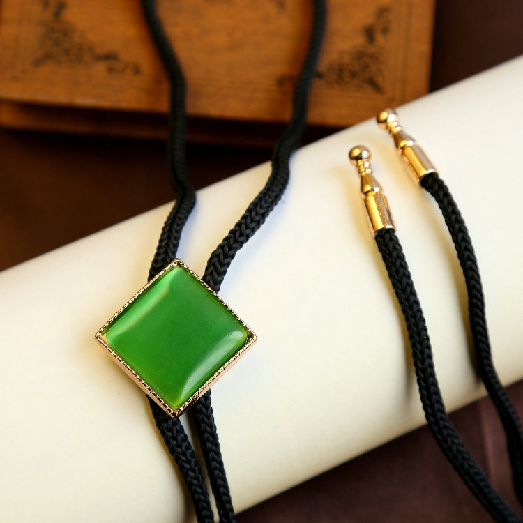 Blue Green Gold Eyestone Bolo Tie American Cowboy India Fashion Necktie for Men 2017 New Designer Women Bola Ties