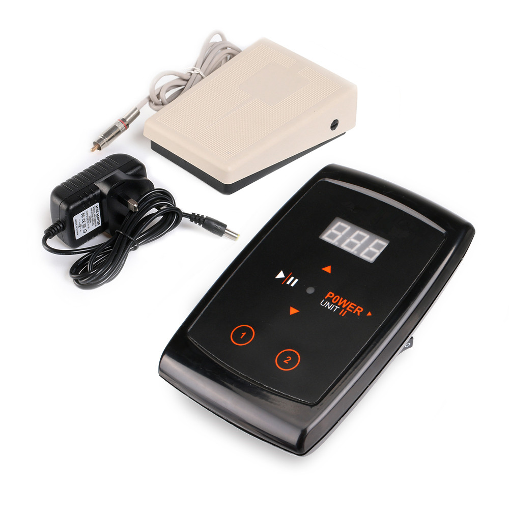 Tattoo New LCD Digital Tattoo Power Supply+ Foot Pedal + Clip Cord Kit P166 promotion tattoo machine power supply digital foot pedal switch 8 clip cord tattoo grommets tattoo kit free shipping