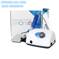 New Arrival STRONG 210 105L Handpiece 65W 40000rpm 2.35mm Nail Drills Manicure Machine Pedicure Electric File Bits