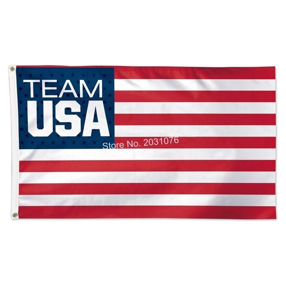 Olympic <font><b>Team</b></font> <font><b>USA</b></font> <font><b>Soccer</b></font> <font><b>Official</b></font> <font><b>World</b></font> <font><b>Cup</b></font> <font><b>Soccer</b></font> <font><b>Deluxe</b></font> Banner Flag 3' x 5' Custom Football Flag