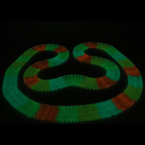 Image 4 - 80/220/300pcs Assembly Race Tracks Rail Miraculous Glowing in The Dark Race Track for Car Racing Game childrens toys for boys