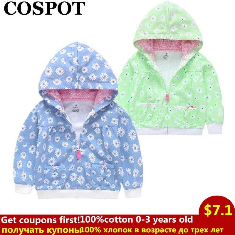 COSPOT 2019 nuevo bebé niños niñas Sudadera con capucha niños cremallera Sudadera con capucha trajes chaqueta con capucha niños niñas recién nacidos ropa 35E