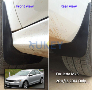 Image 5 - Conjunto de mud flaps para vw jetta mk6 a6 2011 2012 2013 2014 vento sedan mudflaps respingo guardas dianteiro traseiro lama aleta para lamas fender