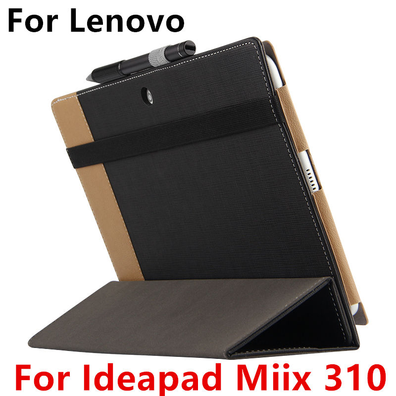 Case For Lenovo Ideapad Miix 310 Protective Smart cover Faux Leather Tablet For MIIX310-101CR 10.1 inch PU Protector Sleeve Case case cowhide for lenovo ideapad miix 700 genuine protective smart cover leather tablet for miix4 pro miix 710 protector 12cover