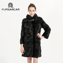 90 cm Long High Quality Real Natural Mink Fur Coat for Women Winter Mink Fur Coat Fur Jacket BF-C0459