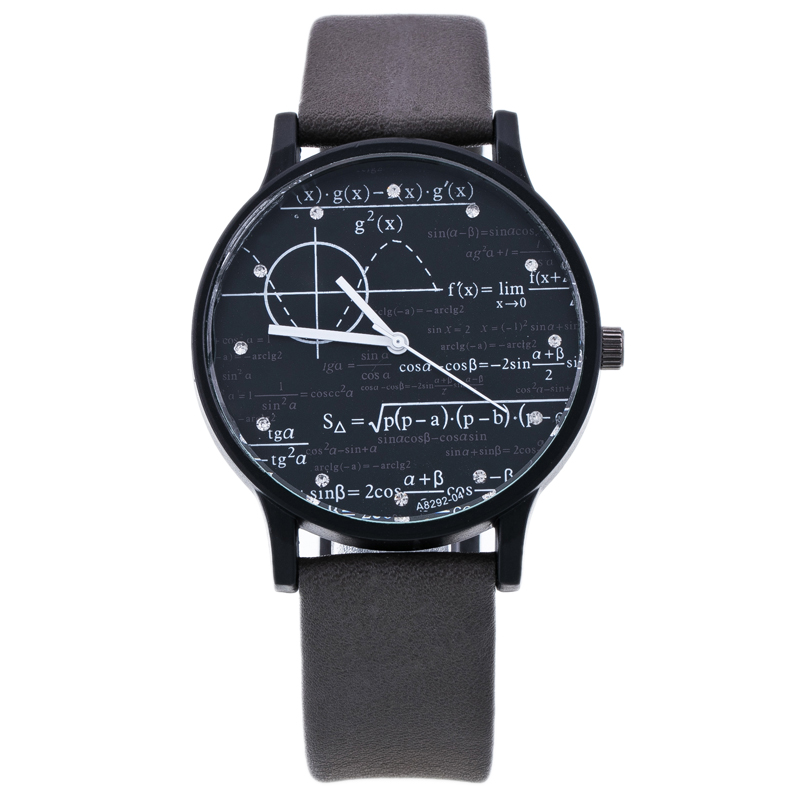 Hot Selling Merk Cartoon Horloges Vrouwen 2016 Beroemde Wiskundige Symbool Casual Quartz Horloge Studenten Klok Relojes Mujer