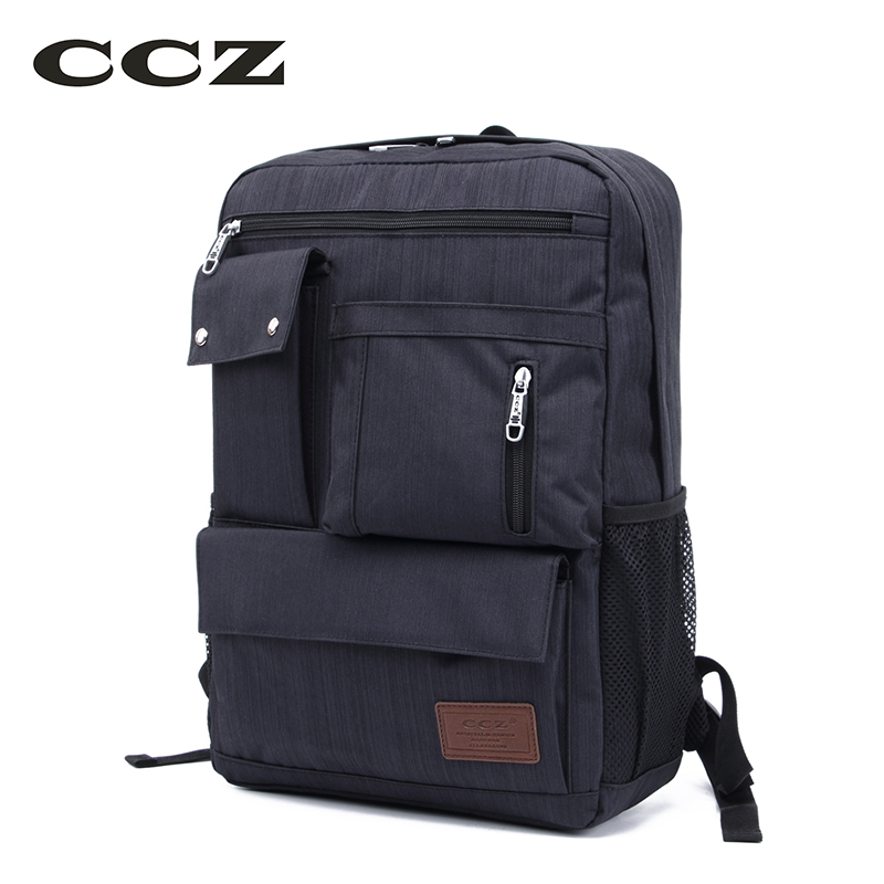 CCZ Nylon Backpack For Travel Men Backpacks 14 inch Laptop Backpack Computer Bag Fashion Rucksack BK8020