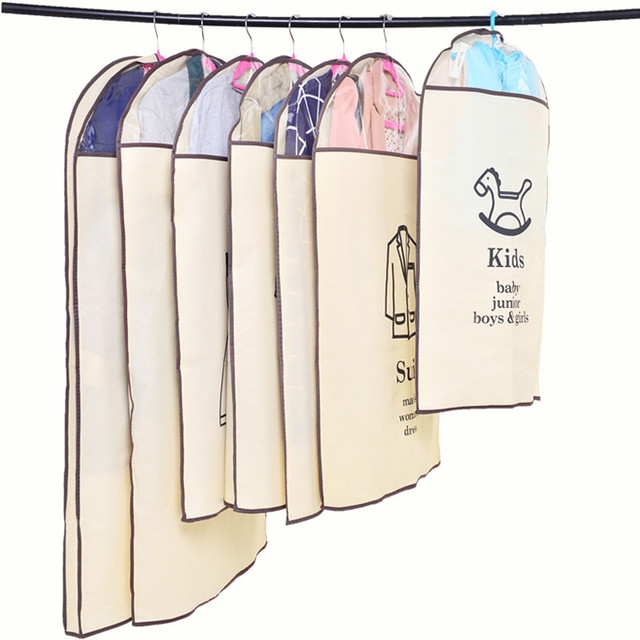 Home Garment Dress Suit Clothes Dust-proof Cover  Storage Bags Organizer Protect Clothes Dress Outer Dust Case Supplies