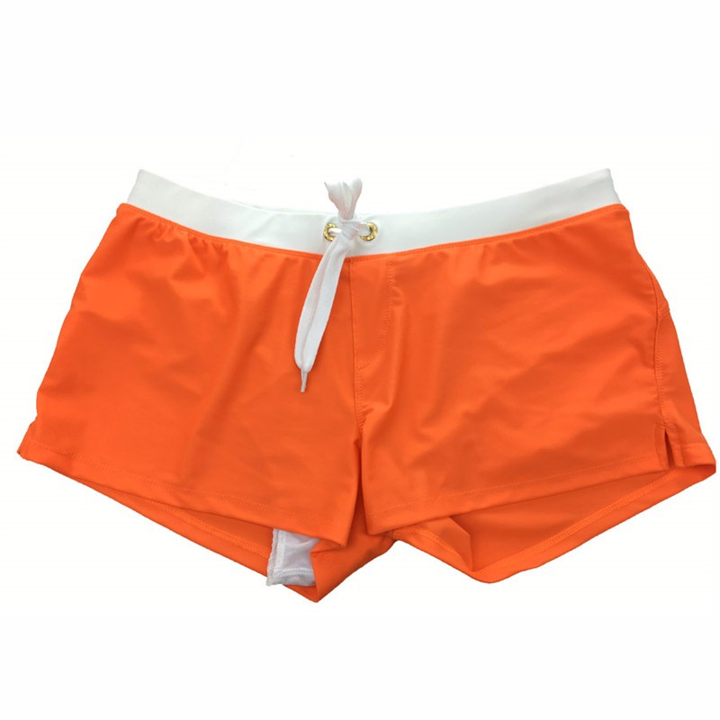 Orange-Swimwear Men Boxer Shorts Swim Trunks Swimming Surf