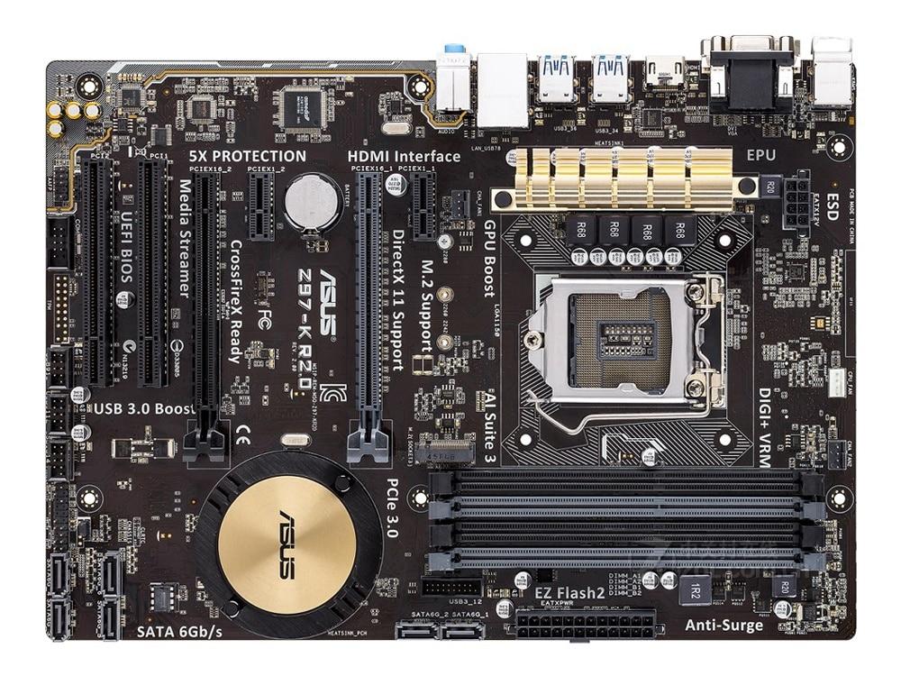 Asus Z97-K R2.0 Desktop Motherboard LGA 1150 DDR3 USB2.0 USB3.0 32GB For I3 I5 I7 CPU Z97 Original motherboards free shipping