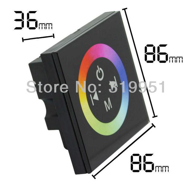 Free shipping! Wall Mount RGB LED Controller,Touch Wheel,11 preset light model,DC12V-24V use for  RGB LED light