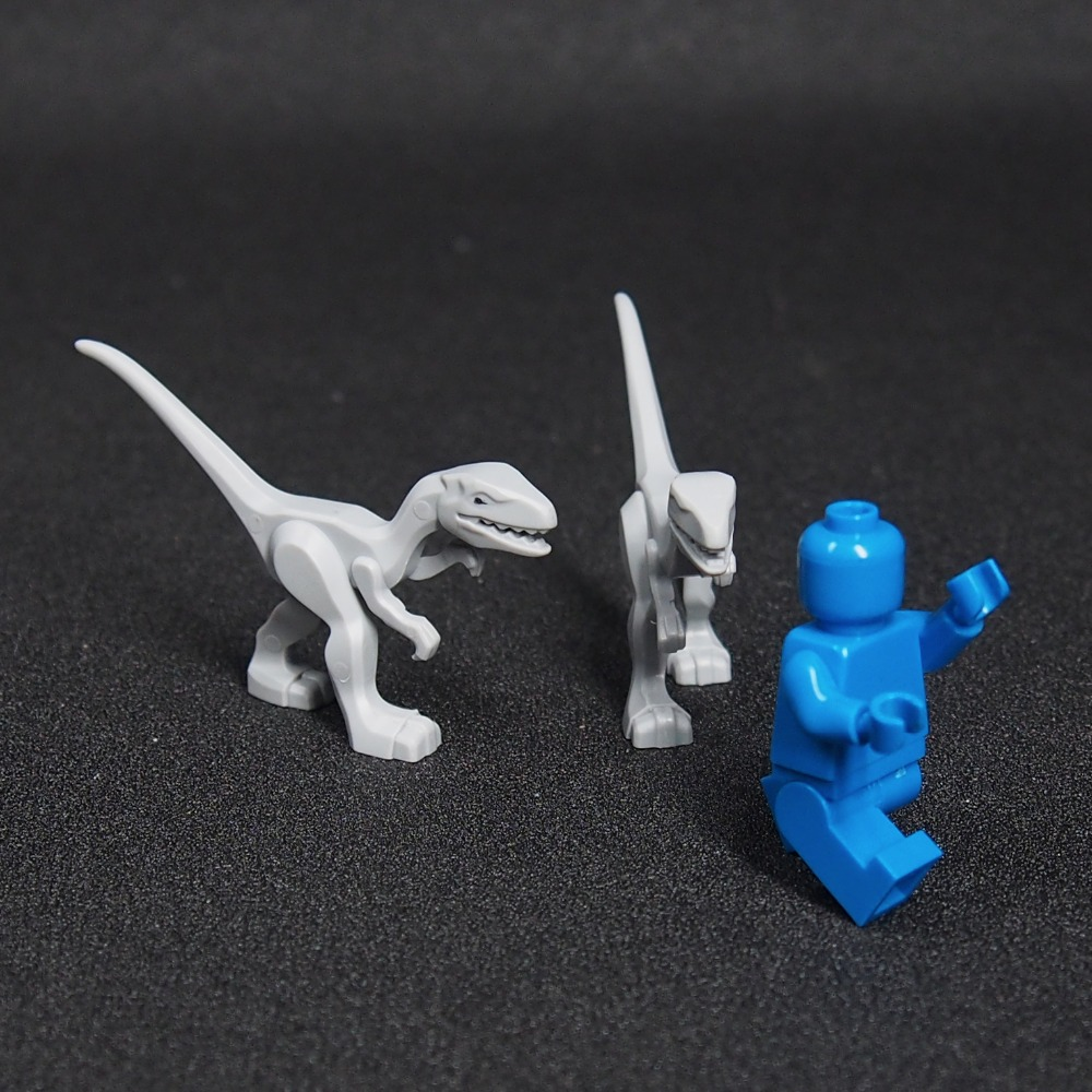 MOC Raptor Triceratops Super Tyrannosaurus rex Mini Jurassic Dinosaur Bricks Figures Building Blocks Super Heroes toys 2 sets jurassic world tyrannosaurus building blocks jurrassic dinosaur figures bricks compatible legoinglys zoo toy for kids