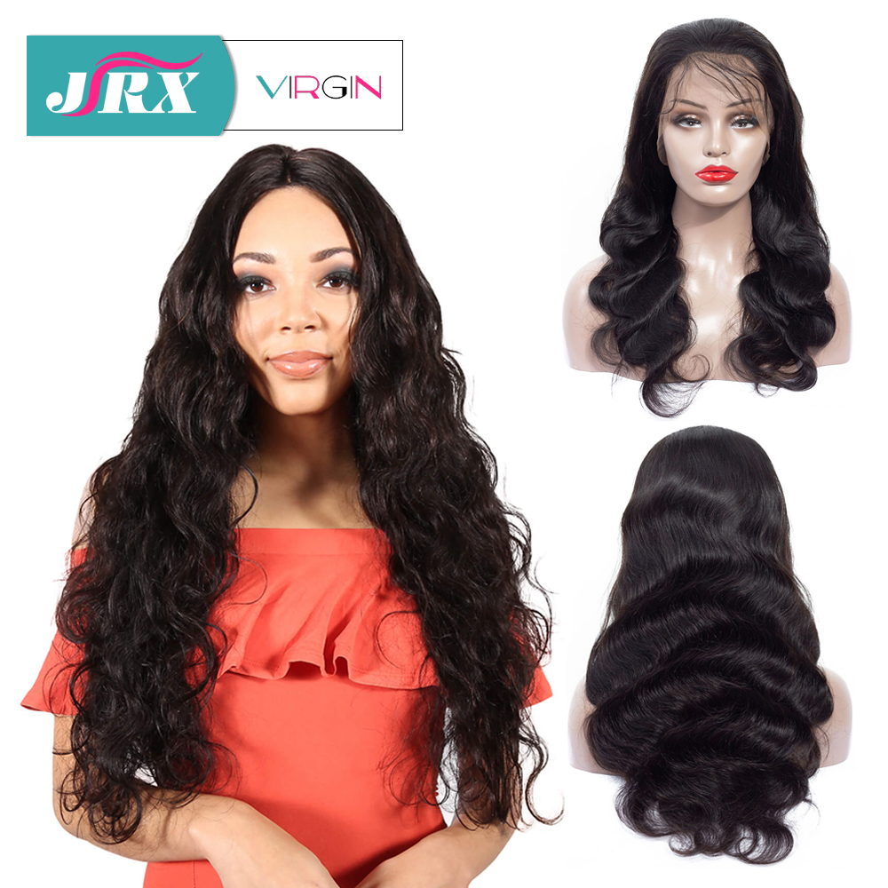 "JRX Hair Body Wave Full Lace Human Hair Wig with Baby Hair 18""-32"" Brazilian Remy Virgin Hair Glueless Wig For Black Women(China)"