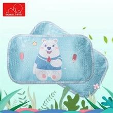 MAMACLEVA Newborn Summer Nursing Pillow Baby Ice Silk Breathable Anti Roll Infant Cartoon Prevent Flat Head Sleep Cushion