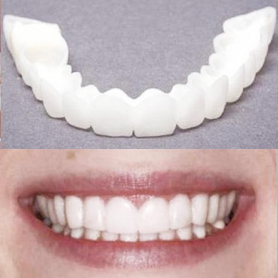 Silicone Perfect Smile Veneers Teeth Upper Beauty Tool Teeth for Men Women Natural Cosmetic Fake Tooth Cover Orthodontics tool serveware