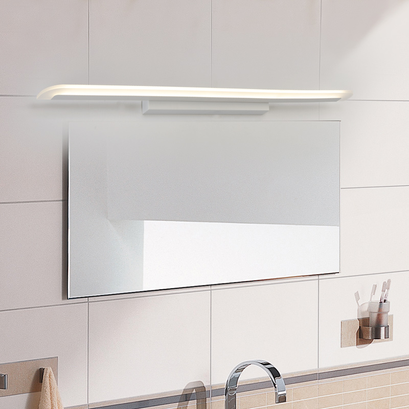 0 4 1 2M 8 24W DIY Bedroom Bathroom LED Mirror Light AC110 240V SMD2835 Style White Wall Lamps Modern Makeup Mirror Lights in LED Indoor Wall Lamps from Lights Lighting