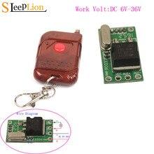 Sleeplion Interruptor de Control remoto con microrelé interruptor de 6V, 9V, 12V, 24V, 1Ch, Mini receptor pequeño, módulo de encendido y apagado de 315MHz