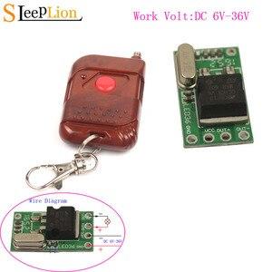 Image 1 - Sleeplion Interruptor de Control remoto con microrelé interruptor de 6V, 9V, 12V, 24V, 1Ch, Mini receptor pequeño, módulo de encendido y apagado de 315MHz