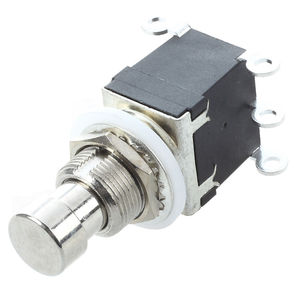 6 pinos DPDT Momentary Stomp Pé Switch para Guitarra AC 250V/2A 125V/4A Momentary duplo pólos dupla jogue o interruptor stomp para efeitos