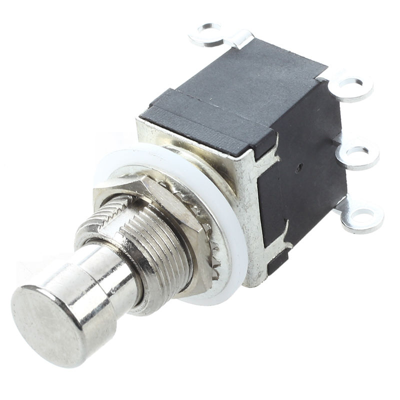 6Pins DPDT Momentary Stomp Foot Switch for Guitar AC 250V/2A 125V/4A Momentary double pole double throw stomp switch for effects image