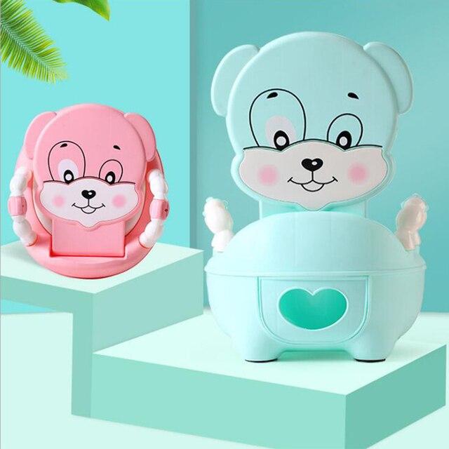 a7caa93b5 Cute Dog Animal Soft Baby Potty Cartoon Baby Toilet Children s Potty Child  Potty Chair Training Girls