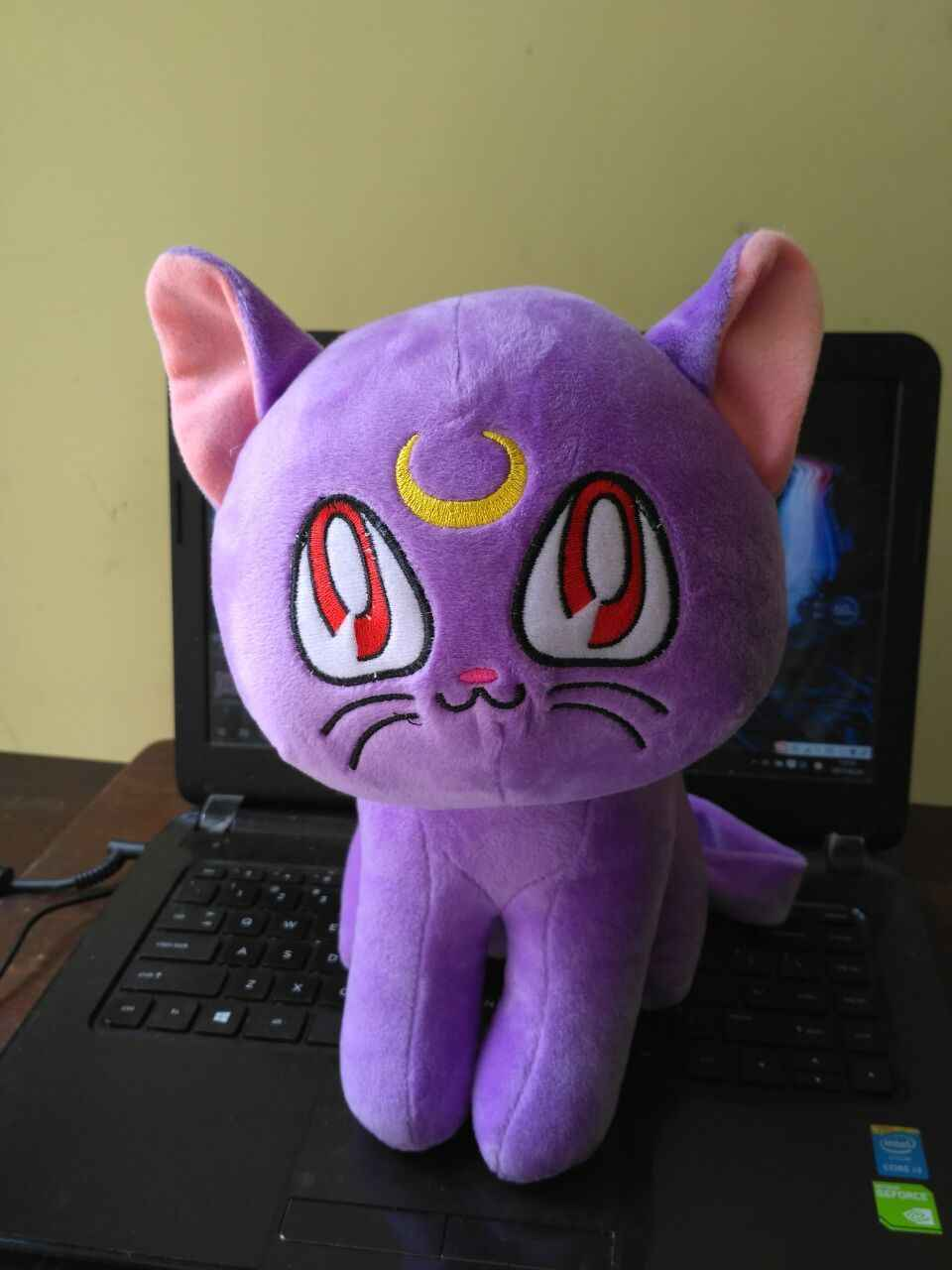 Movies & TV Sailormoon 33 cm Khá Soldier Sailor Moon Tím mèo Diana luna mèo plush toy doll gift p898