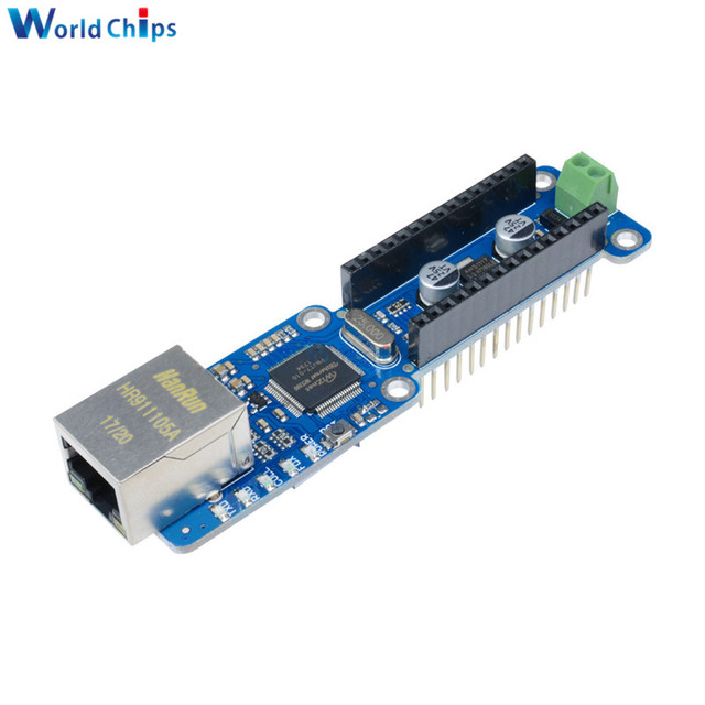 US $7 85 |Ethernet Nano W5100 Ethernet Shield LAN Network Module Board  Micro SD Support TCP UDP For Arduino V3 0 R3 UNO Mega 2560 One-in  Integrated