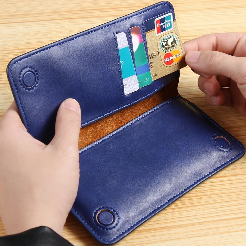 General Luxury Genuine Leather Flip Mini Purse Pouch Wallet Phone Case For iPhone 4S 5S 6S 7 Plus S3 S4 Mini A7 S7 Edge Note 4 5