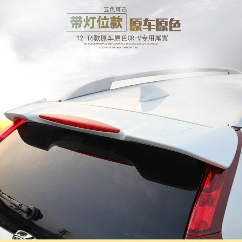 For CR-V CRV Spoiler ABS Primer Unpainted Color Rear Spoiler For CR-V CRV Spoiler 2012-2016 Need Dismantling the original lamp