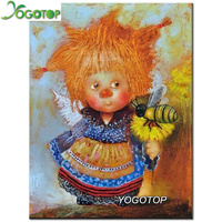 YOGOTOP DIY Diamond Painting Cross Stitch Cartoon Angel Needlework Home Decor Full Rhinestone Mosaic 5D Diamond
