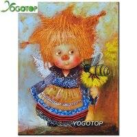 YOGOTOP DIY Diamond Painting Cross Stitch Cartoon Angel Needlework Home Decor Full Rhinestone Mosaic 5D Diamond