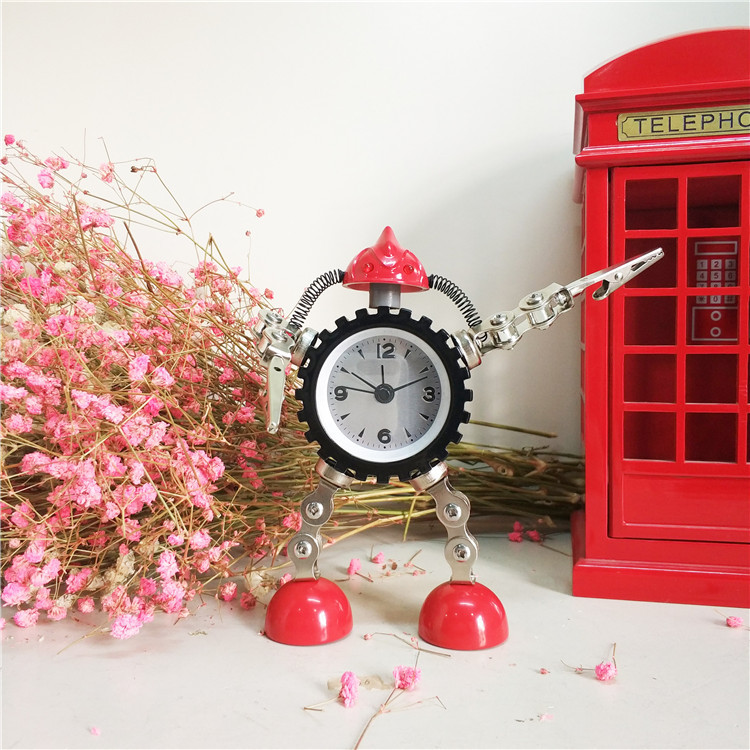 Children Cartoon <font><b>Alarm</b></font> <font><b>Clock</b></font> Creative Christmas Gift <font><b>Boys</b></font> Table <font><b>Clock</b></font> Kids Room Decoration Accessories <font><b>Alarm</b></font> Bot <font><b>Clock</b></font> image
