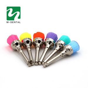 Image 5 - 50 pcs Colorful Dental Polishing Brush Polisher Prophy Rubber Cup Latch Nylon For Dentistry Lab