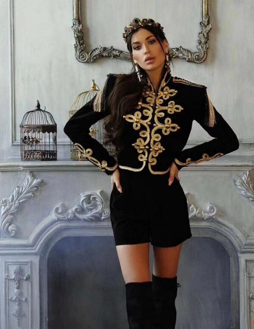 Nouvelles Bandage Sexy 2018 Manches Noir Mode Veste À Outwear B Longues Élégant Court Manteau Femmes De Designer TvqrT