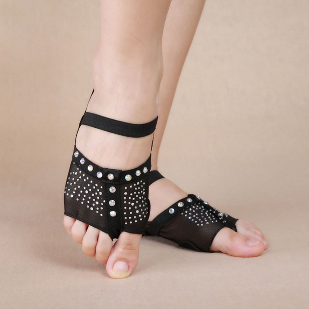 Professional Belly Ballet Dance Toe Pad Practice Socks Shoes Protection Dance Socks Foot Thongs Feet Care Tool With Bowknot