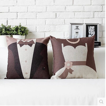 Creative Engagement Wedding Gift Personalized Cushion Cover Home