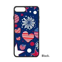 Amour New York Ville Amérique la USA Liberté Coeur Étoiles Rayé drapeau Téléphone Cas pour iPhone X 7/8 Plus Cas Phonecase Couverture