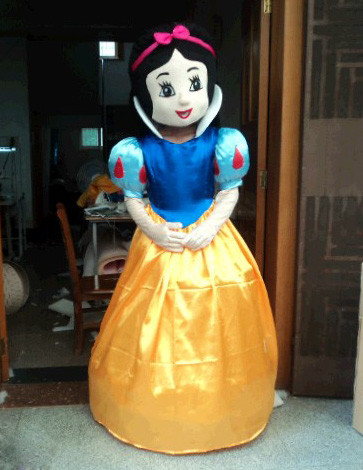 2014 Hot Sale ! High Quality Snow White mascot costume Adult Snow WhiteCarnival Costume Character Cartoon Mascot Free Shipping