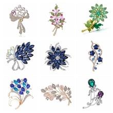 Брошь В Виде Цветка на булавке, броши с кристаллами для женщин, украшения одежды, модное красивое ювелирное изделие, модные броши в виде цветка