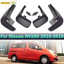 4Pcs plástico Macio Mud Flaps Respingo Guarda Para Nissan Vanette NV200 Flexível Evalia 2010-2019 4PCS Mudguards frente Traseira