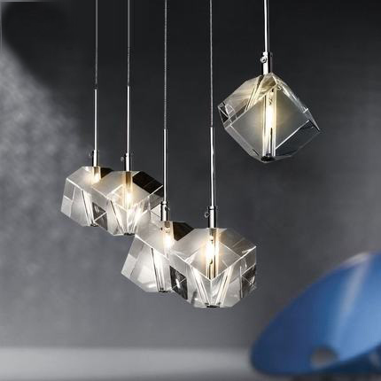 Modern Fashion Transparent K9 Crystal LED Pendant Lights  Lamps For Home Dining Room Bar  Simple Stainless Steel Light Fixture a1 master bedroom living room lamp crystal pendant lights dining room lamp european style dual use fashion pendant lamps