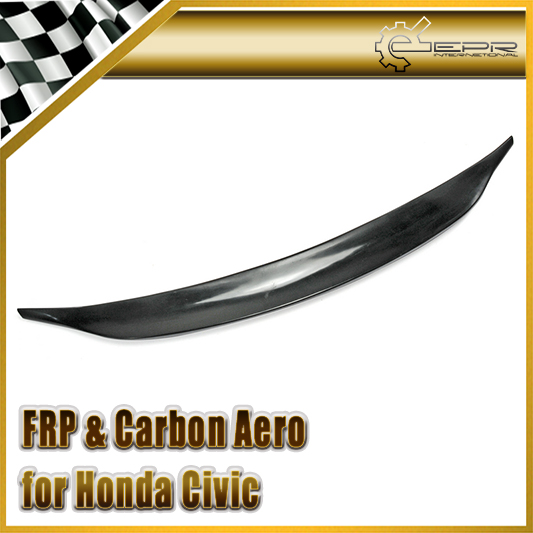 Car-styling FRP Fiber Glass Do Style Rear Spoiler Fit For Honda Civic 9th Generation 2013-2015 frp fiber glass car styling hood bonnet lip chin valance fin add on tuning parts for nissan skyline r32 gtr gts