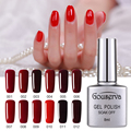 Hot Sale Healthy and Eco-friendly12Colors Wine Red Series Gel Nail Polish 8ML Soak Off Gel Lucky UV Nail Varnish Gouserva